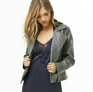 NWT Faux Leather Combo Jacket